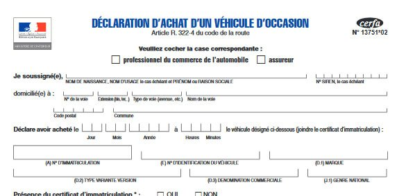 declaration d achat vehicule a remplir en ligne certificat de destruction d 39 un v hicule d. Black Bedroom Furniture Sets. Home Design Ideas